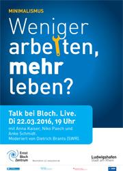 Talk bei bloch live for Minimalismus weniger besitzen mehr leben